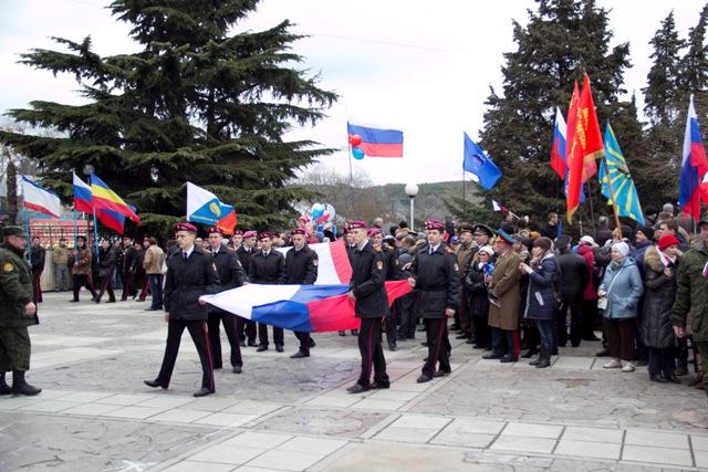 Как праздновали «Крымскую весну» в разных городах Крыма (ФОТО, ВИДЕО), фото-37